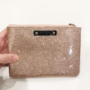 NEW Kate Spade Glittery Gold Small Pouch